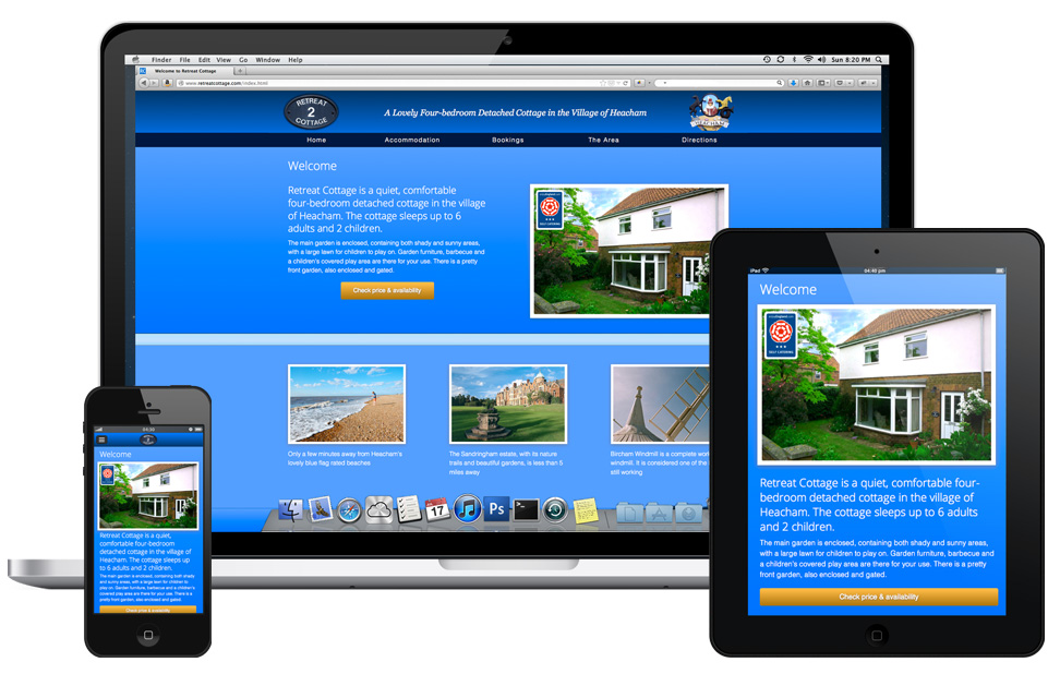 Responsive Home page